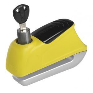 Moto zamek na tarczę hamulcową z alarmem Abus 350 Trigger żółty