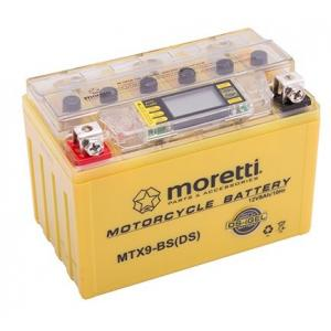 Bezobsługowy akumulator żelowy Moretti MTX9-BS, 12V 8Ah ze wskaźnikiem