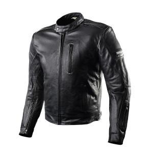 Skórzana kurtka motocyklowa Shima Hunter+ czarna