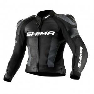 Skórzana kurtka motocyklowa Shima STR czarno-szara wyprzedaż