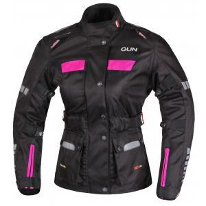 Damska kurtka motocyklowa RSA Gun czarno-różowa