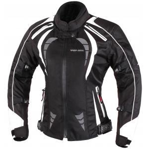 Damska kurtka motocyklowa RSA Queen czarno-biała