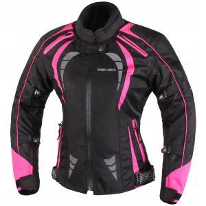 Damska kurtka motocyklowa RSA Queen czarno-różowa