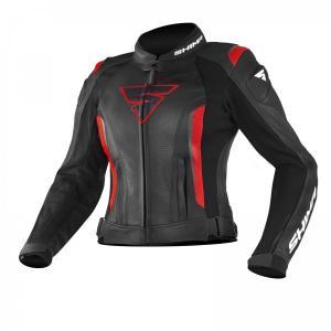 Damska skórzana kurtka motocyklowa Shima Miura czarno-czerwona wyprzedaż