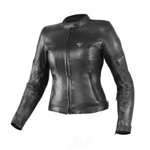 Damska skórzana kurtka motocyklowa Shima Monaco czarna