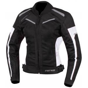 Damska kurtka motocyklowa Street Racer Betty czarno - biała