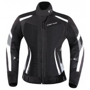 Damska kurtka motocyklowa Street Racer Elite czarno-biała