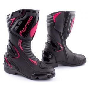 Damskie buty motocyklowe Forma Freccia czarno-różowe