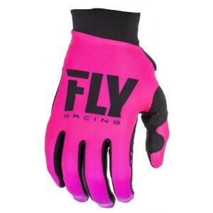 Damskie motocrossowe rękawice FLY Racing PRO LITE 2019 - USA czarno-różowe wyprzedaż