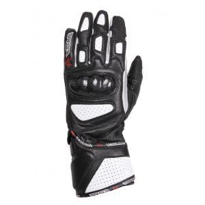 Damskie rękawice motocyklowe RSA RX-1 czarno-białe
