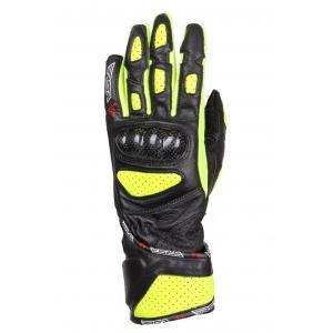 Damskie rękawice motocyklowe RSA RX-1 czarno-fluo żółte