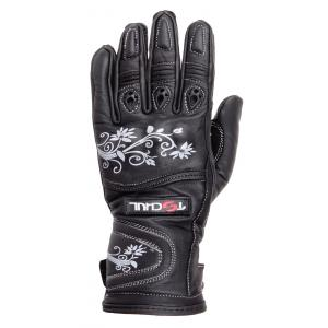 Damskie rękawice motocyklowe Tschul 301 czarne