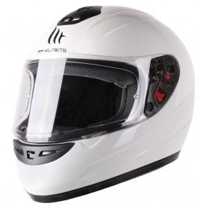 Dziecięcy integralny kask motocyklowy MT Thunder biały