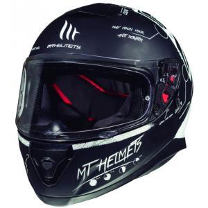 Integralny kask motocyklowy MT Thunder 3 SV Board czarny matowy-biały