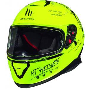 Integralny kask motocyklowy MT Thunder 3 SV Board fluo żółty