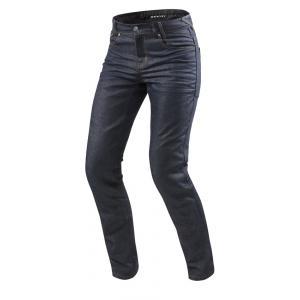 Jeansy motocyklowe Revit Lombard 2 RF ciemnoniebieskie skrócone wyprzedaż