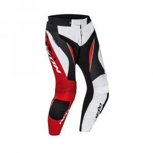 Skórzane spodnie motocyklowe IXON Falcon biało-czerwono-czarne