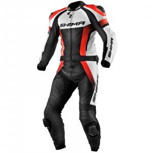 Kombinezon motocyklowy Shima STR czarno-biało-fluo czerwony wyprzedaż