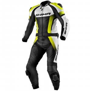 Kombinezon motocyklowy Shima STR czarno-biało-fluo żółty wyprzedaż