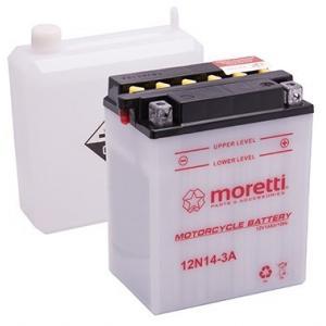 Akumulator kwasowo-ołowiowy Moretti 12N14-3A, 12V 14Ah