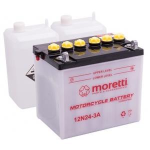 Akumulator kwasowo-ołowiowy Moretti 12N24-3A, 12V 24Ah wyprzedaż
