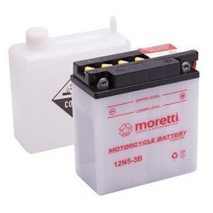 Akumulator kwasowo-ołowiowy Moretti 12N5-3B, 12V 5Ah