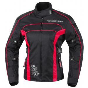 Damska kurtka motocyklowa RSA SW-01 czarno-czerwona