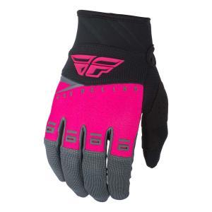 Motocrossowe rękawice FLY Racing F-16 2019 - USA różowo-czarno-szare wyprzedaż
