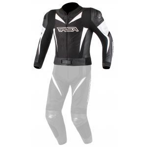 Skórzana kurtka motocyklowa RSA GPX czarno-biała