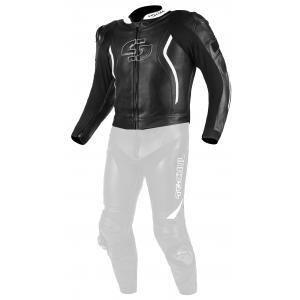 Skórzana kurtka motocyklowa Tschul 535 czarno-biała