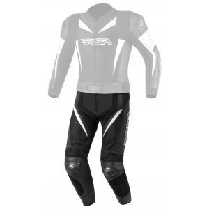 Skórzane spodnie motocyklowe RSA GPX czarno-białe
