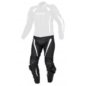 Skórzane spodnie motocyklowe RSA Imola czarno - białe wyprzedaż