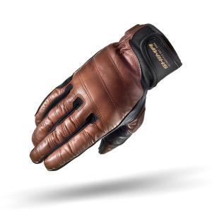 Rękawice motocyklowe Shima Revolver brązowe