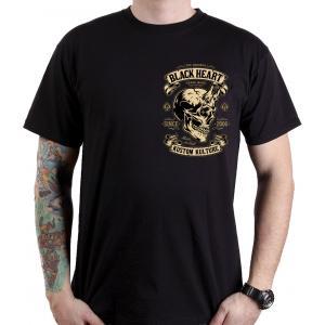 Koszulka Black Heart Devil Skull