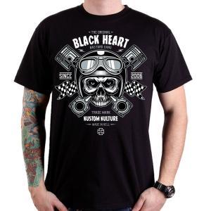 Koszulka Black Heart Piston Skull