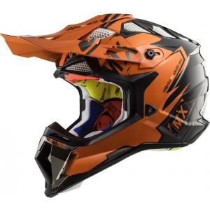 Motocrossowy kask LS2 MX470 Subverter Emperor czarno-pomarańczowy wyprzedaż