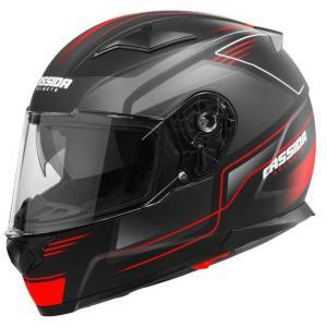 Integralny kask motocyklowy Cassida Apex Fusion czarno-fluo czerwony