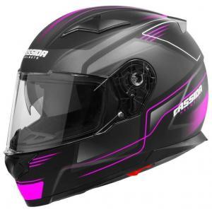 Integralny kask motocyklowy Cassida Apex Fusion czarno-różowo-biały