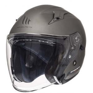 Otwarty kask motocyklowy MT Avenue SV tytanowy matowy wyprzedaż