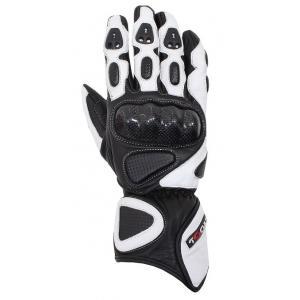 Rękawice motocyklowe Tschul 212 czarno-białe