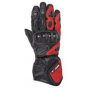 Rękawice motocyklowe Tschul 212 czarno-czerwone