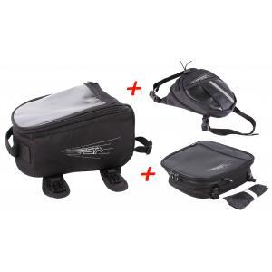 Zestaw: Tankbag RSA + Kieszeń na nogę + brašna na sedlo