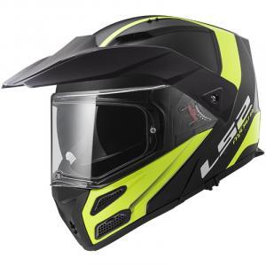 Szczękowy kask motocyklowy LS2 FF324 Metro EVO Rapid czarno-fluo żółty wyprzedaż