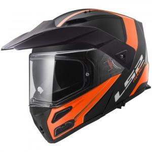 Szczękowy kask motocyklowy LS2 FF324 Metro EVO Rapid czarno-pomarańczowy wyprzedaż