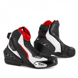 Buty motocyklowe Shima SX-6 czarno-biało-czerwone