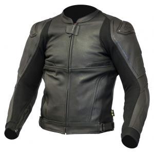 Skórzana kurtka motocyklowa Ozone Volt czarna wyprzedaż