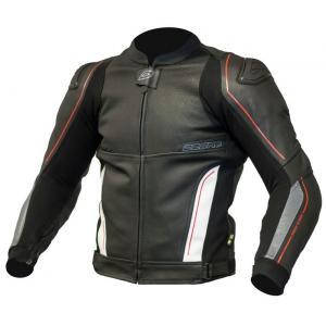 Skórzana kurtka motocyklowa Ozone Volt czarno-biała wyprzedaż