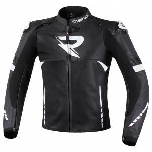 Skórzana kurtka motocyklowa Street Racer Bexter czarno-biała wyprzedaż
