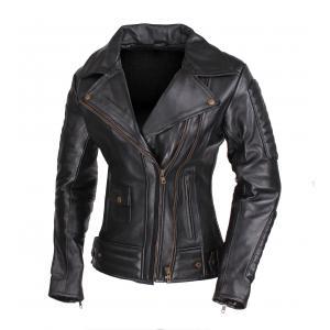 Damska skórzana kurtka motocyklowa ramoneska Street Racer Amber - II. jakość