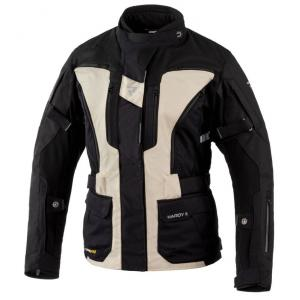 Damska kurtka motocyklowa Rebelhorn Hardy II czarno-piaskowa